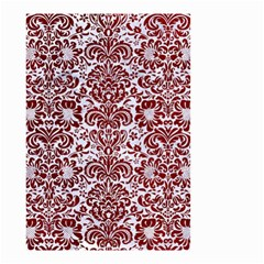 Damask2 White Marble & Red Grunge (r) Small Garden Flag (two Sides) by trendistuff