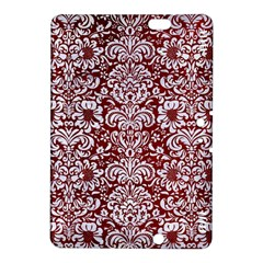 Damask2 White Marble & Red Grunge Kindle Fire Hdx 8 9  Hardshell Case by trendistuff