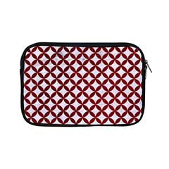 Circles3 White Marble & Red Grunge (r) Apple Ipad Mini Zipper Cases by trendistuff