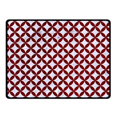 Circles3 White Marble & Red Grunge (r) Double Sided Fleece Blanket (small)  by trendistuff