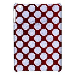 Circles2 White Marble & Red Grunge Apple Ipad Mini Hardshell Case by trendistuff
