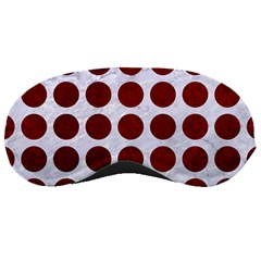 Circles1 White Marble & Red Grunge (r) Sleeping Masks by trendistuff