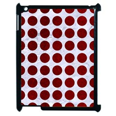 Circles1 White Marble & Red Grunge (r) Apple Ipad 2 Case (black) by trendistuff