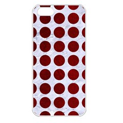Circles1 White Marble & Red Grunge (r) Apple Iphone 5 Seamless Case (white) by trendistuff