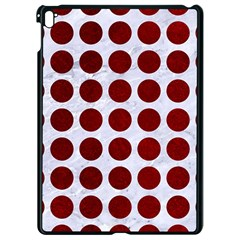Circles1 White Marble & Red Grunge (r) Apple Ipad Pro 9 7   Black Seamless Case by trendistuff