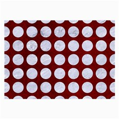 Circles1 White Marble & Red Grunge Large Glasses Cloth (2 Side) by trendistuff