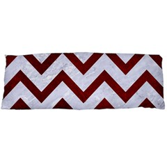 Chevron9 White Marble & Red Grunge (r) Body Pillow Case (dakimakura) by trendistuff