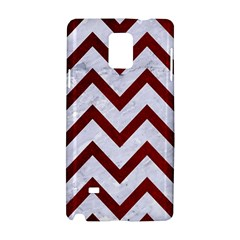 Chevron9 White Marble & Red Grunge (r) Samsung Galaxy Note 4 Hardshell Case by trendistuff