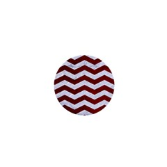 Chevron3 White Marble & Red Grunge 1  Mini Magnets by trendistuff
