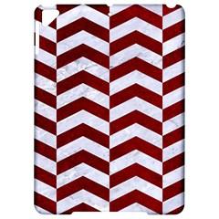 Chevron2 White Marble & Red Grunge Apple Ipad Pro 9 7   Hardshell Case by trendistuff