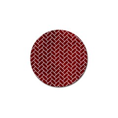 Brick2 White Marble & Red Grunge Golf Ball Marker (10 Pack) by trendistuff