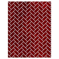 Brick2 White Marble & Red Grunge Drawstring Bag (large) by trendistuff