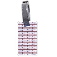Brick1 White Marble & Red Grunge (r) Luggage Tags (two Sides) by trendistuff