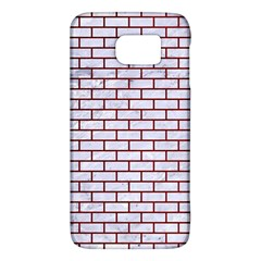 Brick1 White Marble & Red Grunge (r) Galaxy S6