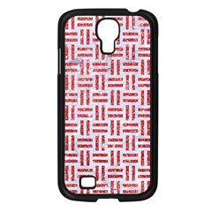 Woven1 White Marble & Red Glitter (r) Samsung Galaxy S4 I9500/ I9505 Case (black) by trendistuff