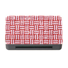 Woven1 White Marble & Red Glitter Memory Card Reader With Cf by trendistuff
