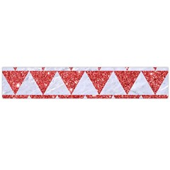 Triangle2 White Marble & Red Glitter Large Flano Scarf