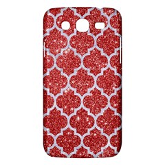 Tile1 White Marble & Red Glitter Samsung Galaxy Mega 5 8 I9152 Hardshell Case  by trendistuff