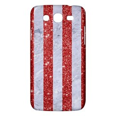 Stripes1 White Marble & Red Glitterstripes1 White Marble & Red Glitter Samsung Galaxy Mega 5 8 I9152 Hardshell Case  by trendistuff
