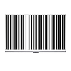 Barcode Pattern Business Card Holders by Sapixe
