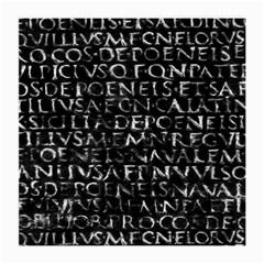 Antique Roman Typographic Pattern Medium Glasses Cloth (2 Side) by dflcprints