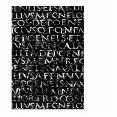 Antique Roman Typographic Pattern Large Garden Flag (two Sides) by dflcprints