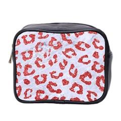 Skin5 White Marble & Red Glitter Mini Toiletries Bag 2 Side by trendistuff