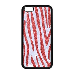 Skin4 White Marble & Red Glitter Apple Iphone 5c Seamless Case (black) by trendistuff