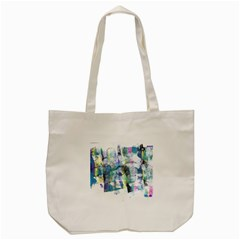 Background Color Circle Pattern Tote Bag (cream) by Sapixe