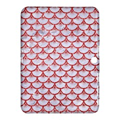 Scales3 White Marble & Red Glitter (r) Samsung Galaxy Tab 4 (10 1 ) Hardshell Case  by trendistuff