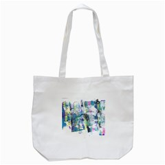Background Color Circle Pattern Tote Bag (white) by Sapixe