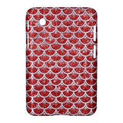 Scales3 White Marble & Red Glitter Samsung Galaxy Tab 2 (7 ) P3100 Hardshell Case  by trendistuff