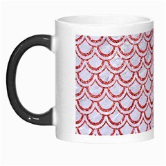 Scales2 White Marble & Red Glitter (r) Morph Mugs by trendistuff