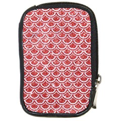 Scales2 White Marble & Red Glitter Compact Camera Cases by trendistuff