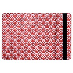 Scales2 White Marble & Red Glitter Ipad Air 2 Flip by trendistuff