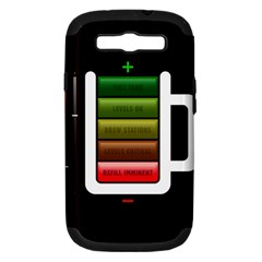 Black Energy Battery Life Samsung Galaxy S Iii Hardshell Case (pc+silicone) by Sapixe