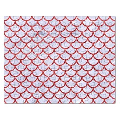 Scales1 White Marble & Red Glitter (r) Rectangular Jigsaw Puzzl by trendistuff