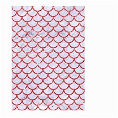 Scales1 White Marble & Red Glitter (r) Large Garden Flag (two Sides) by trendistuff