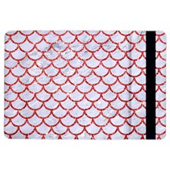 Scales1 White Marble & Red Glitter (r) Ipad Air 2 Flip by trendistuff