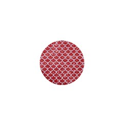 Scales1 White Marble & Red Glitter 1  Mini Magnets by trendistuff