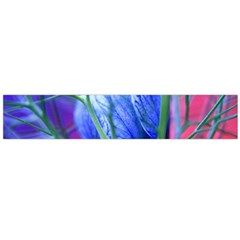 Blue Flowers With Thorns Large Flano Scarf  by Sapixe