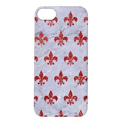 Royal1 White Marble & Red Glitter Apple Iphone 5s/ Se Hardshell Case by trendistuff
