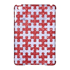 Puzzle1 White Marble & Red Glitter Apple Ipad Mini Hardshell Case (compatible With Smart Cover) by trendistuff
