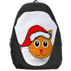 Cat Christmas Cartoon Clip Art Backpack Bag by Sapixe