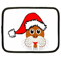 Child Of Artemis Christmas Animal Clipart Netbook Case (large) by Sapixe