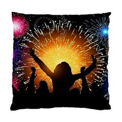 Celebration Night Sky With Fireworks In Various Colors Standard Cushion Case (one Side) by Sapixe