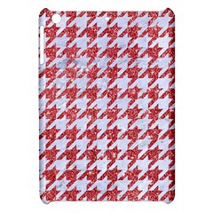 Houndstooth1 White Marble & Red Glitter Apple Ipad Mini Hardshell Case by trendistuff