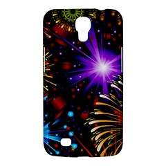 Celebration Fireworks In Red Blue Yellow And Green Color Samsung Galaxy Mega 6 3  I9200 Hardshell Case by Sapixe