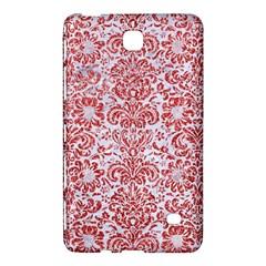 Damask2 White Marble & Red Glitter (r) Samsung Galaxy Tab 4 (7 ) Hardshell Case  by trendistuff