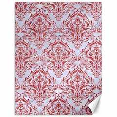 Damask1 White Marble & Red Glitter (r) Canvas 12  X 16   by trendistuff